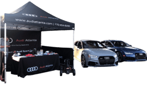Pop Up Tent Audi 2 custom fabric printing canwil textiles